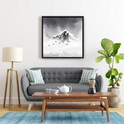 Framed 24 x 24 - Mountain peak