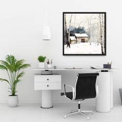 Framed 24 x 24 - Small winter barn