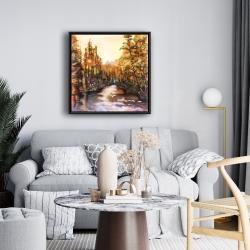 Framed 24 x 24 - Merced river