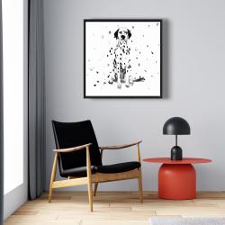 Framed 24 x 24 - Dalmatian dog