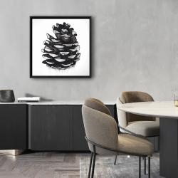 Framed 24 x 24 - Pine cone