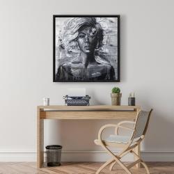Framed 24 x 24 - Gentle woman