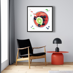 Framed 24 x 24 - Berry smoothies