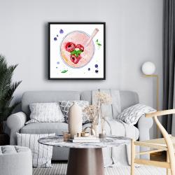Framed 24 x 24 - Strawberry & raspberry smoothie