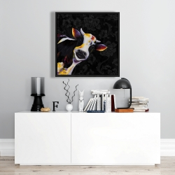 Framed 24 x 24 - Funny cow