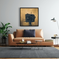 Framed 24 x 24 - Vintage camera