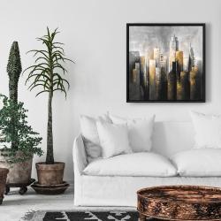 Framed 24 x 24 - Abstract skyline