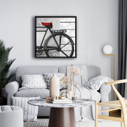 Framed 24 x 24 - Rear bicycle