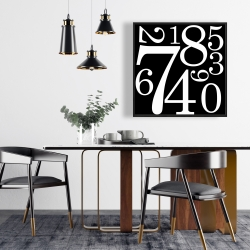Framed 24 x 24 - 1 to 9