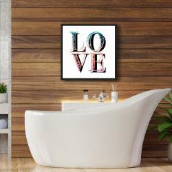 Framed 24 x 24 - Colorful love