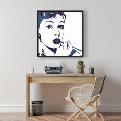 Framed 24 x 24 - Audrey hepburn: cigarillo