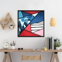 Framed 24 x 24 - Diagonal unity