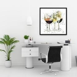 Framed 24 x 24 - Beautiful wine glasses