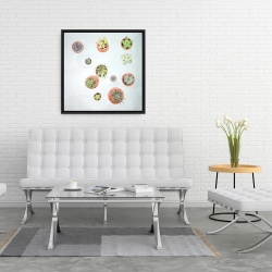 Framed 24 x 24 - Cactus plants