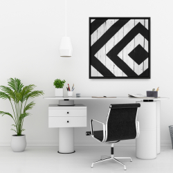 Framed 24 x 24 - Rhombus on wood