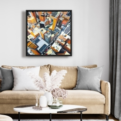 Framed 24 x 24 - High top view of buildings in new york