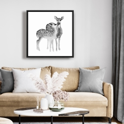 Framed 24 x 24 - Fawns love