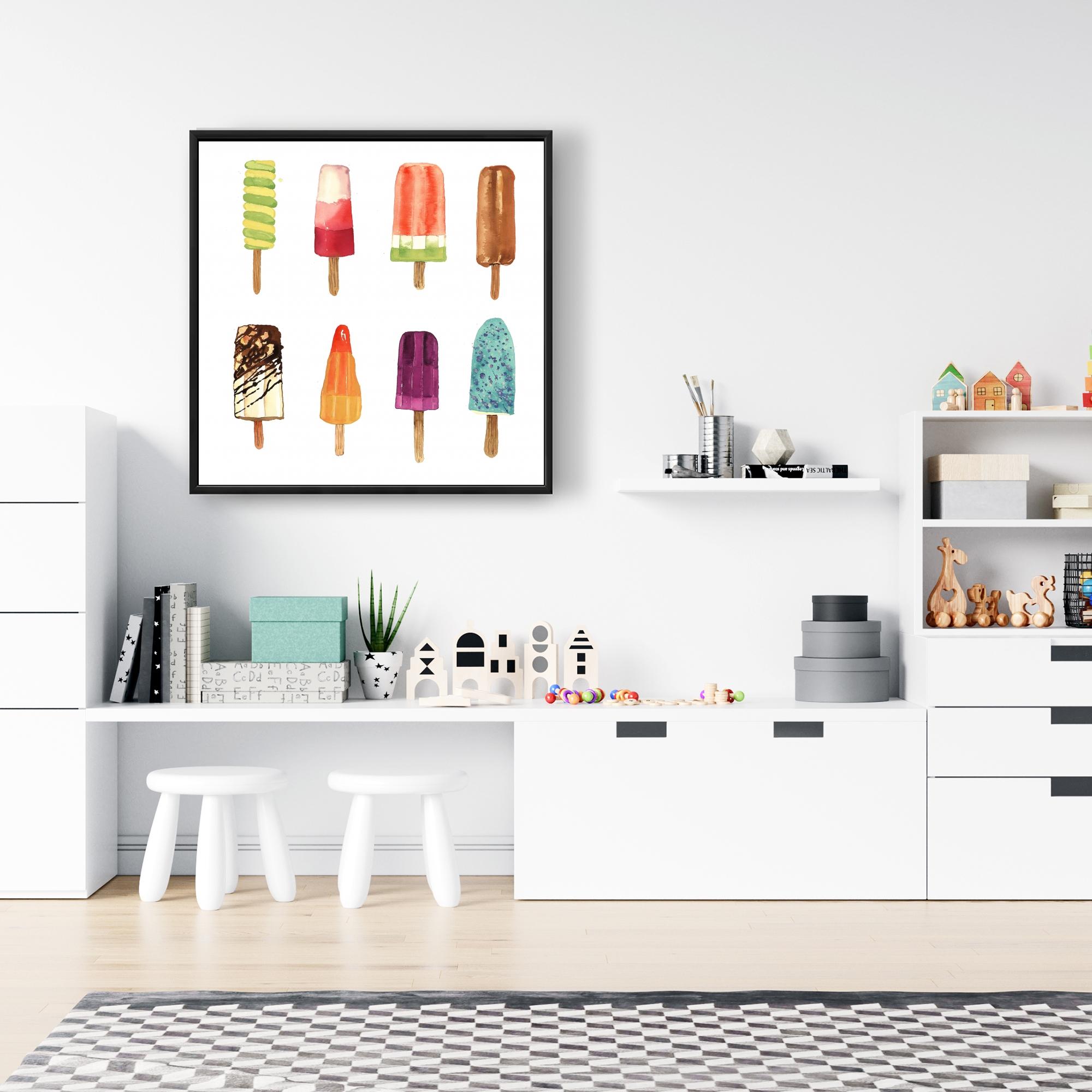 Framed 24 x 24 - Iced lollipop
