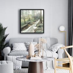 Framed 24 x 24 - Waterfall
