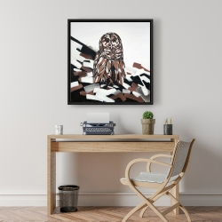 Framed 24 x 24 - Tawny owl