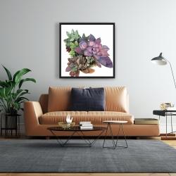 Framed 24 x 24 - Succulent plant