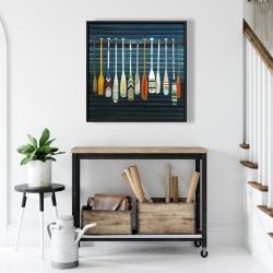 Framed 24 x 24 - Paddles