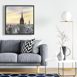 Framed 24 x 24 - Sunset over new york city