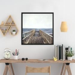 Framed 24 x 24 - Relaxing beach