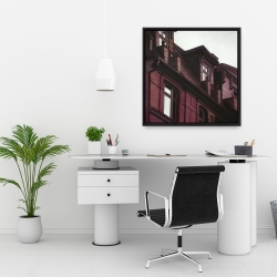 Framed 24 x 24 - Architectural building