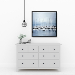Framed 24 x 24 - Boats at the dock 2