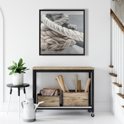 Framed 24 x 24 - Twisted boat rope