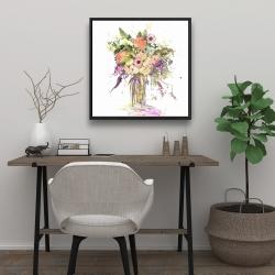 Framed 24 x 24 - Romantic bouquet