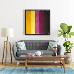 Framed 24 x 24 - Live stripes