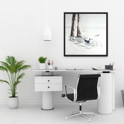 Framed 24 x 24 - Seagull