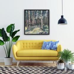 Framed 24 x 24 - Birches