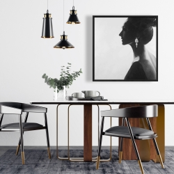 Framed 24 x 24 - Chic woman