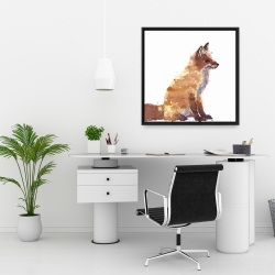 Framed 24 x 24 - Red fox