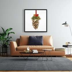 Framed 24 x 24 - Christmas pine cone