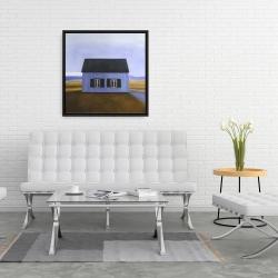 Framed 24 x 24 - Blue barn