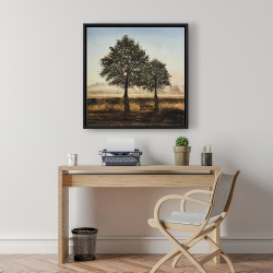 Framed 24 x 24 - Trees in the countryside