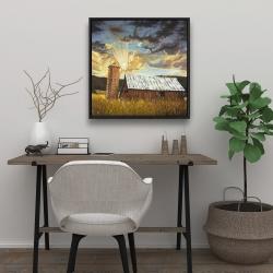 Framed 24 x 24 - Hay barn