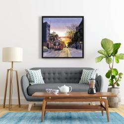 Framed 24 x 24 - Sunset streetscape to toronto