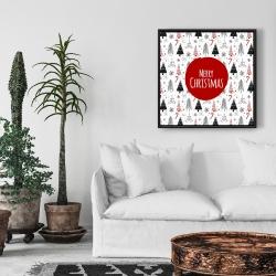 Framed 24 x 24 - Merry christmas - en