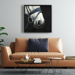 Framed 24 x 24 - Horse with harness
