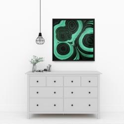 Framed 24 x 24 - Malachite stone