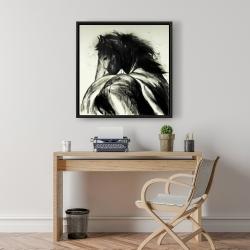 Framed 24 x 24 - Classical horse