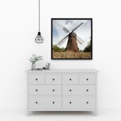 Framed 24 x 24 - Windmill