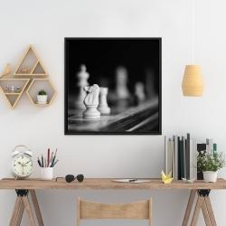 Framed 24 x 24 - Monochrome chess games