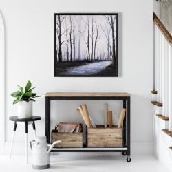 Framed 24 x 24 - Sad forest