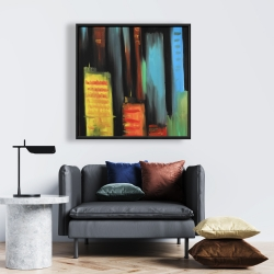 Framed 24 x 24 - Abstract tall buildings